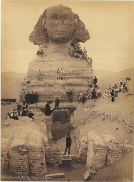 Excavation of the Sphinx, circa 1850