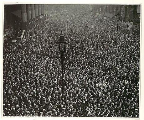 Moment of Silence, Armistice Day, London, November 11, 1918