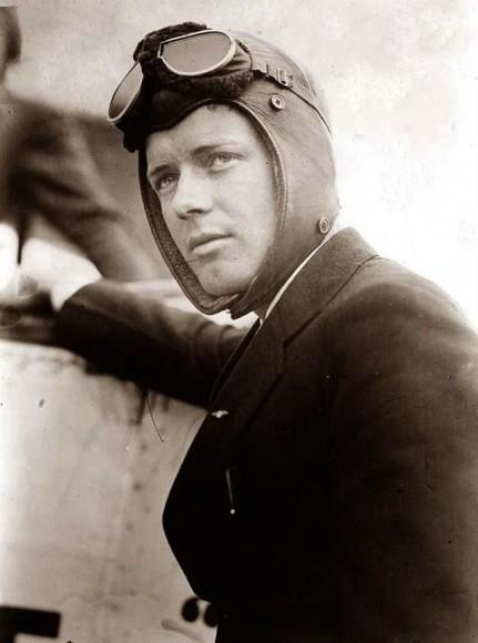 Charles A. Lindbergh Who Piloted The Spirit of St. Louis Completed First Non-Stop Transatlantic Flight May 21 1927.(33 hour flight)