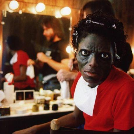 Michael Jackson transforming into a zombie during the making of Thriller '83