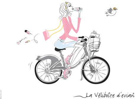 Quand la Veliboîte d'Evian désaltère la Parisienne