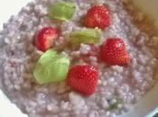 Risotto fraises basilic