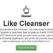 Faites le tri dans vos vieux Likes Facebook avec Cleanser