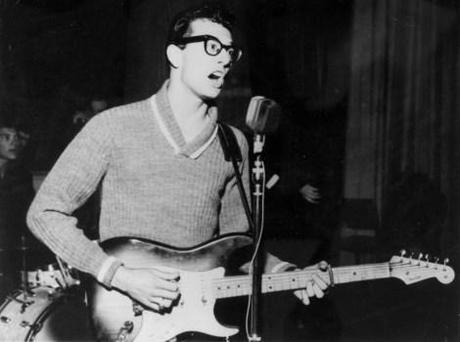 Music. Personalities. pic: circa 1957. American singer, songwriter and pioneer of rock Buddy Holly (1936-1959) who with his group