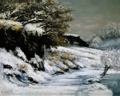 Gustave Courbet Effet de neige, ca. 1868 Huile sur toile, 72 x 92 cm French and Company, New York