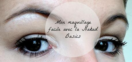 maquillage facile naked basics urban decay