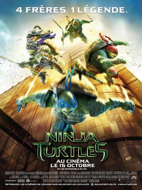 NINJA TURTLES affiche officielle [CINÉ] Ninja Turtles saffiche