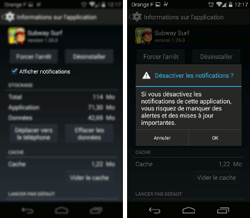 desactiver notification jeux android Désactiver les notifications dune application Android