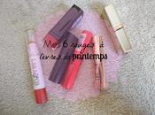 rouges lèvres printemps