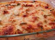 Gratin Saumon Chorizo, courgettes tomates