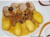 Filet mignon porc olives facon tajine