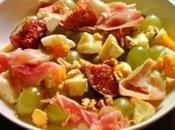 Salade d'autonme mi-figues mi-raisin jambon cru, noix fromage