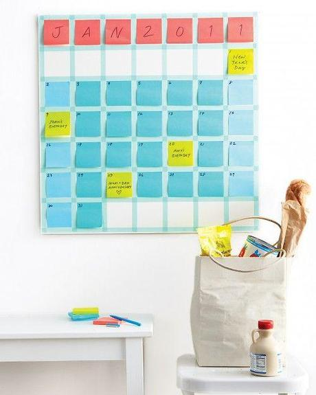 calendrier post it