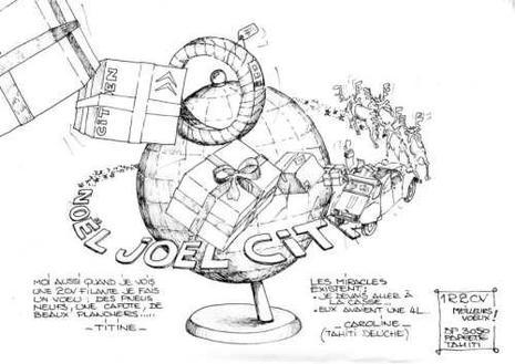 Citroen 2cv joyeux no l dessins humoristiques paperblog - Dessin 2cv humour ...