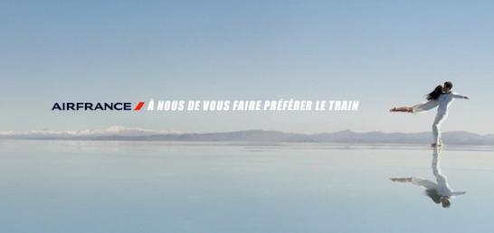 air france a nous de vous faire preferer le train