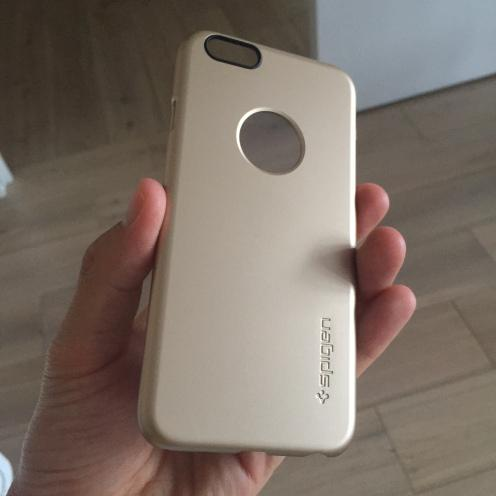 Test : Coque iPhone 6 Spigen Champagne Or !