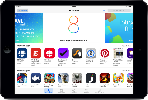 iOS 8 astuce App Store meilleures apps