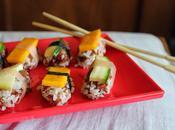 nigiri-sushi bicolores végétariens)