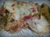 Gratin poireaux mozzarella chorizo