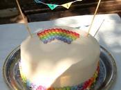 Anniversaire tout couleur Rainbow cake