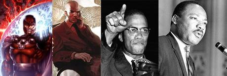 magneto-professeur-xavier-malcolm-x-martin-luther-king