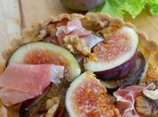Tartelettes figue, jambon noix