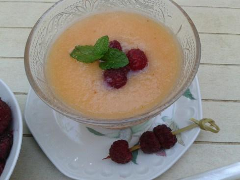 smoothie melon et litchis
