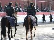 Russie Moscou belle dans tenue hivernale