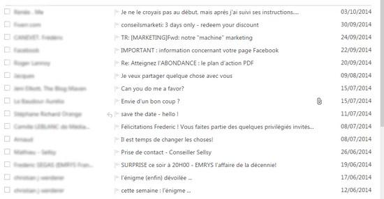exemples d emails pertinents