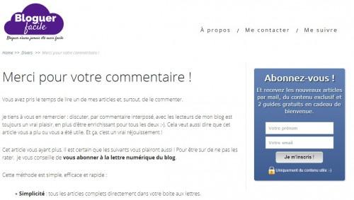 commentaire newsletter