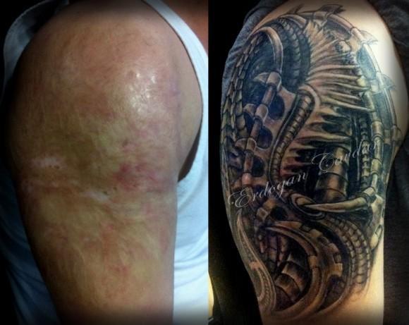 tatouage dos et acné - tatouage