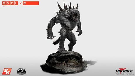 Evolve Goliath Monstre TriForce statuette 02 Figurine : Découvrez Goliath dEvolve  figurine Evolve
