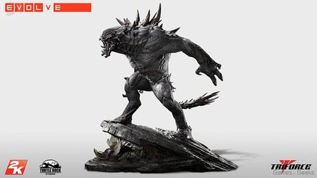 Evolve Goliath Monstre TriForce statuette 01 Figurine : Découvrez Goliath dEvolve  figurine Evolve