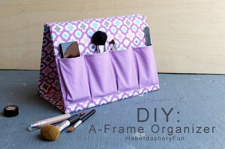 organisateur maquillage DIY : une trousse support à maquillage, (mais pas que)