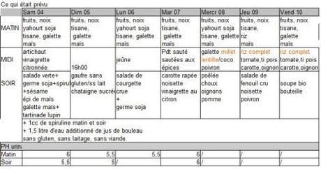 menu alcalinisant