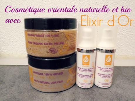 L'Elixir d'Or, cosmétique orientale naturelle et bio !