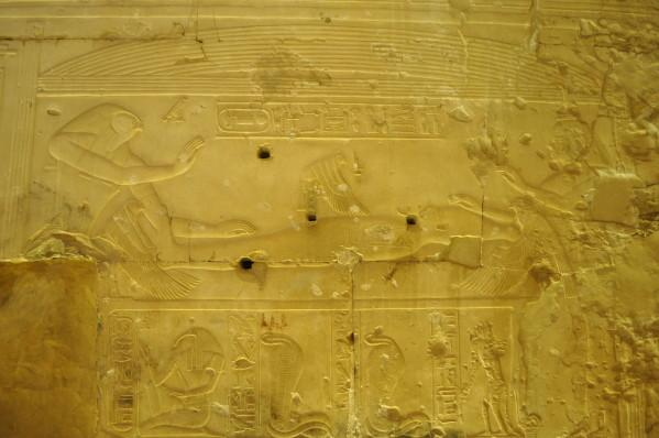 Abydos - Fécondation d'Isis (Photo Tifet)
