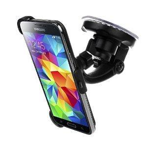 Bingsale KIT Support fixation pare-brise voiture Samsung Galaxy S5 - Support ventouse portrait / paysage 180 °  Bingsale Support avec système de fixation antivibratoire de qualité supérieure et orientable à 180° convient parfaitement à Samsung Galaxy...