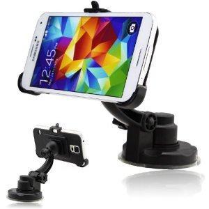 IDACA Support fixation pare-brise voiture pour 2014 Neuf Samsung Galaxy S5 G900  -Le support flexible garde votre Samsung galaxy S5 en vue et à votre portée tout le temps.  -Supporte l'utilisation avec ou sans étuis de protection  -La technologie bre...