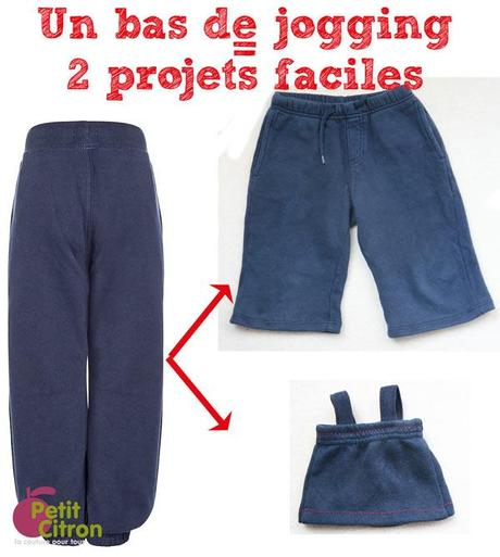 jogging raccourcir robe poupee 2 projets de couture avec un seul pantalon de jogging