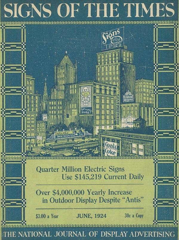 Signs of the Times, the national journal of display advertising - 1924