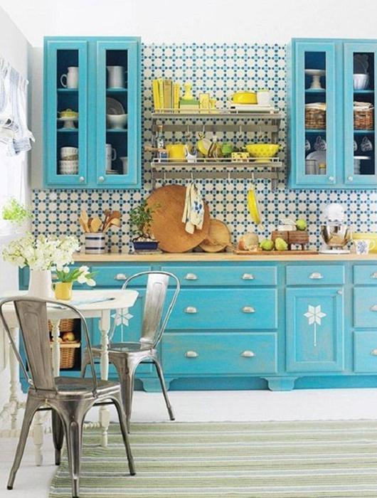 Cuisine Bleu Turquoise