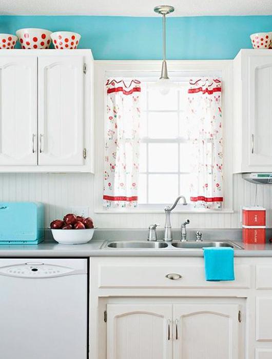 Emejing Cuisine Bleu Turquoise Et Rouge Images - ansomone.us ...