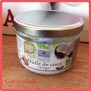 huile coco cheveux bio