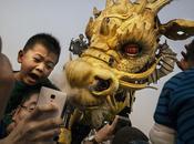 dragon géant Nantais fait show Pékin