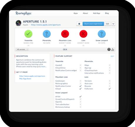 Verifier apps OS X Yosemite