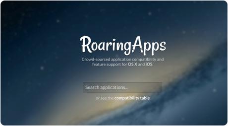 Roaring App OS X Yosemite