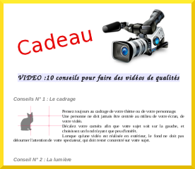 Newsletter conception video.fr
