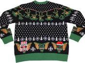 Gremlins envahissent votre pull Jacquard Noël