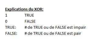 XOR explications